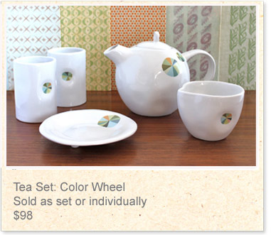 Tea set: Colour Wheel